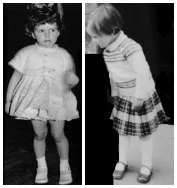 Marian and Karen as wee children for Echo 800 x 852