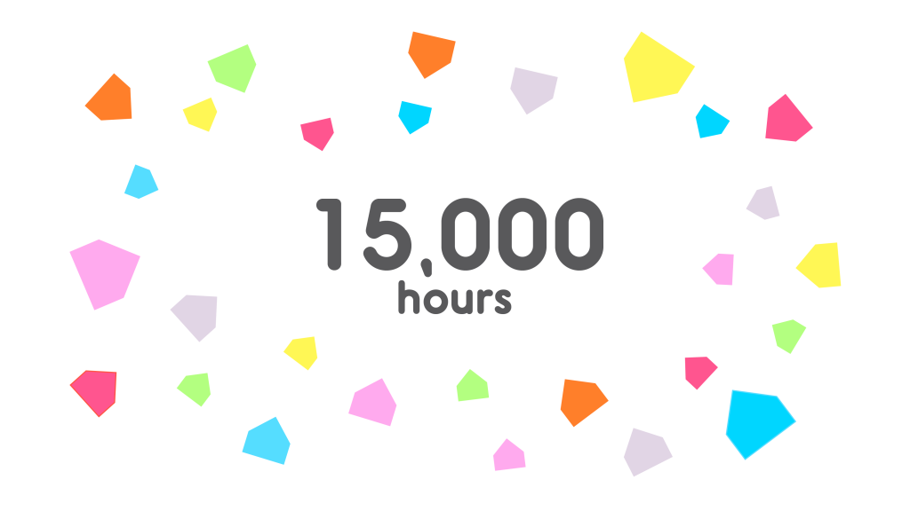 15,000 hours announcement